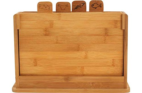 Heart of House Bamboo Chopping Board - Pack of 4. Unbranded