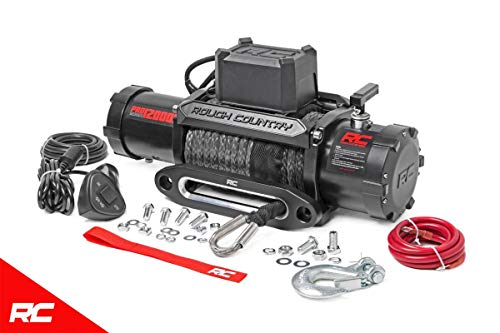 Rough Country 12,000 LB PRO Series Electric Winch w/Synthetic Rope PRO12000S Pro Series Electric Winch - 12000 Series