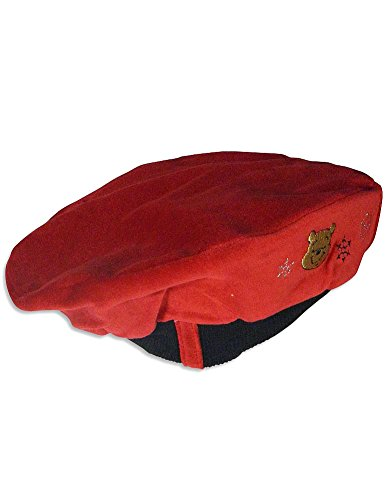 Winnie The Pooh Cotton Cap - Disney - Baby Girls Winnie The Pooh Beret Hat, Red, Black 26658-onesize