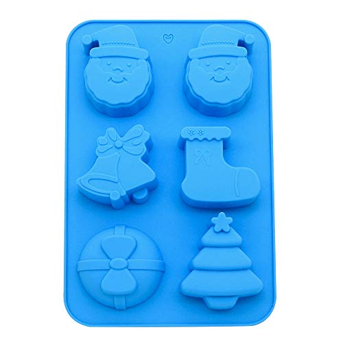 (Silicone Cupcake Liner, Christmas Limited Edition Reusable Muffin Pan Pastry Baking Mold Chocolates Candy/Jello/ Ice)