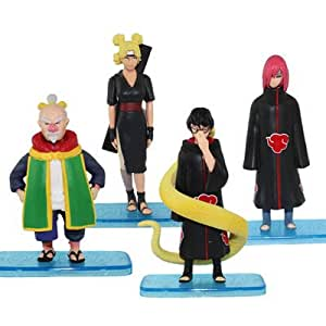 4x NARUTO Temari/Ohnoki/Kabuto/Nagato 9-11cm Figure Set
