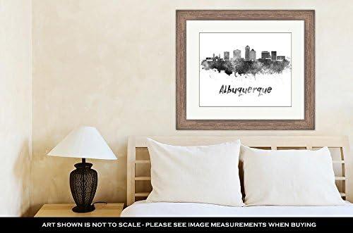 Amazon.com: Ashley Framed Prints Albuquerque Skyline In Watercolor ...