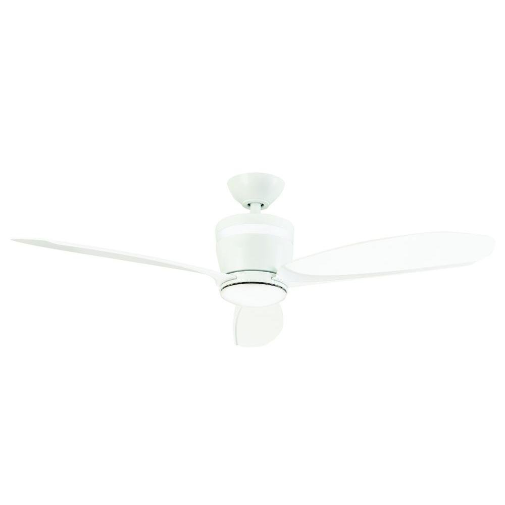 Home Decorators Collection Federigo 48 in. LED Indoor White Ceiling Fan