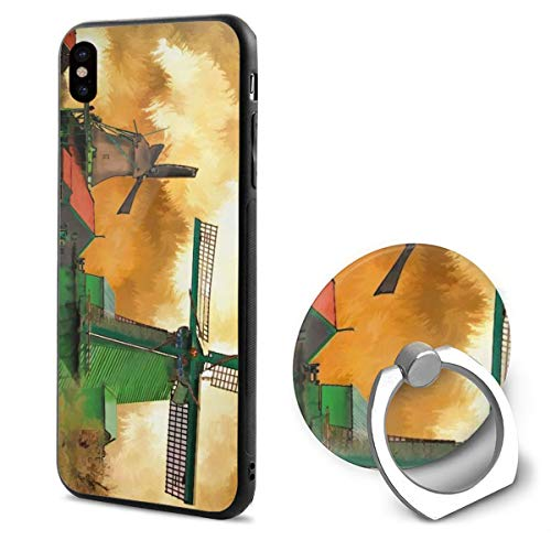 (Barton Apple iPhone Xs Case/iPhone X Case + Finger Ring Stand Holder 360 Degree Rotating Combo Set -)