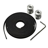 Printer Timing Belt - 3d Printer Timing Belt - GT2 Pulley 16 Teeth 5mm Bore 2M Belt For 3D Printer Parts RepRap Prusa ( Timing Belt Printer ) by Unknown