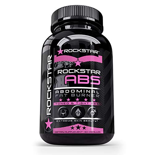 Rockstar Abs Targeted Fat Burner, Skinny Gal Weight Loss for Women, #1 Thermogenic Diet Pill and Fast Fat Burner, Carb Block & Appetite Suppressant, Weight Loss Pills, 60 Veggie Cap ()
