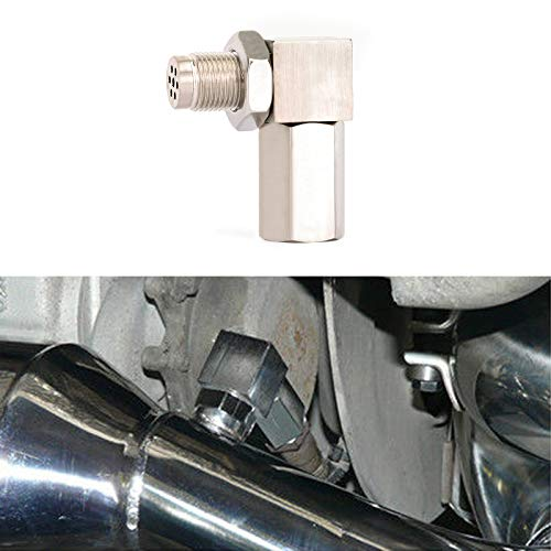 Artudatech 90 Degree CEL Check Engine Light Bungs O2 Sensor Spacer Engine Light CEL Check Bung Mini Catalytic -