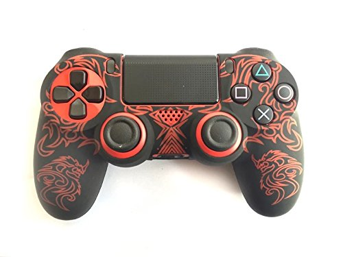 Silicone Protective Controller for Sony PS4 (Red/Black) - 7