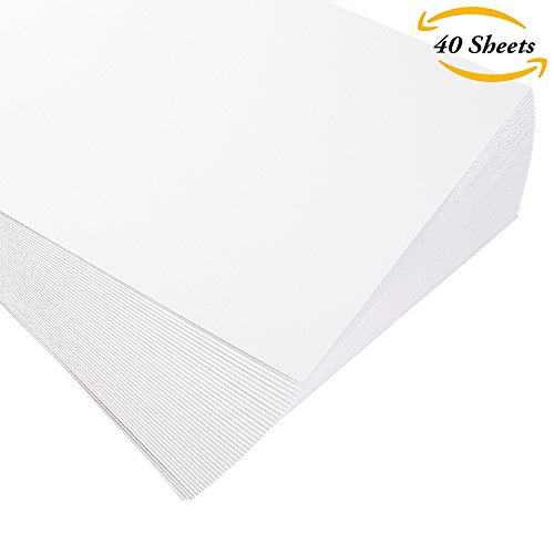 Aneco 40 Sheets Cotton Watercolor Paper Bulk Pack Cold Press Watercolor Paper for Students Beginner or Artists Supplies, White, 6 by 9 Inches