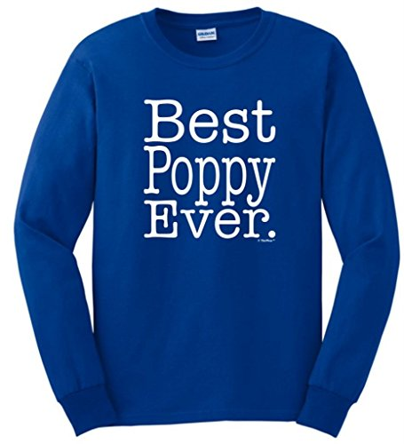 Best Poppy Ever Long Sleeve T-Shirt Large Royal