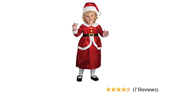 c4562b64b Amazon.com: Rubies Lil' Mrs. Claus Children's Costume, Toddler: Toys & Games