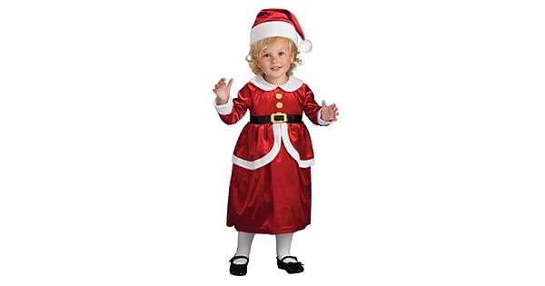Amazon.com: Rubies Lil Mrs. Claus Disfraz de los niños ...