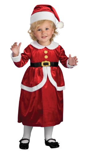 Rubies Lil' Mrs. Claus Children's Costume, Toddler (Santa Claus Costume For Girl)