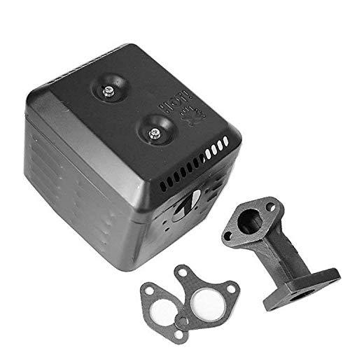 Parts Club Muffler Exhaust Assembly Fits Honda GX340 GX390 11HP & 13HP Head Shield Manifold Two ()