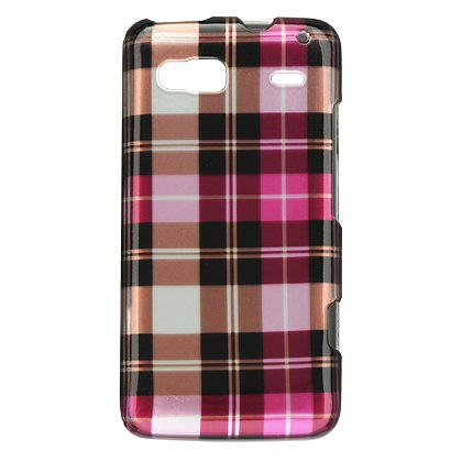 DreamWireless CAHTCTMG2HPCK Htc T-Mobile G2 Crystal Case, Hot Pink Checker