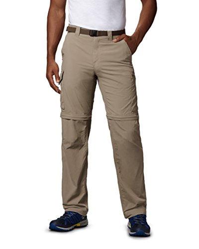Tech Pants - Columbia Men's Silver Ridge Convertible Pant, Breathable, UPF 50 Sun Protection, Tusk, 36x32