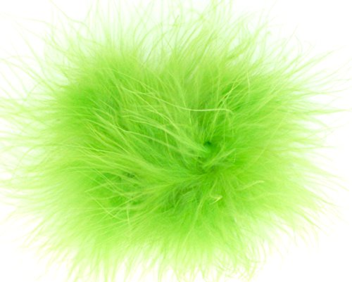 Puff Bow (Marabou Feather Puff Hair Bow Clip (Lime Green))