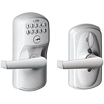 schlage commercial locks. Unique Schlage Schlage FE595CS V PLY 626 ELA Plymouth Light Commercial Electronic Keypad  Lock With Elan Lever And Locks