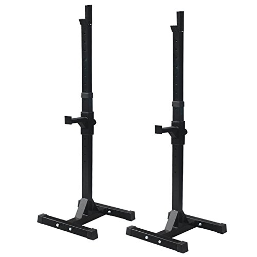 F2C Pair of Adjustable Rack Sturdy Steel Squat Barbell Free Bench Press Stands GYM/Home Gym Portable Dumbbell Racks Stand (one pair/two pcs)
