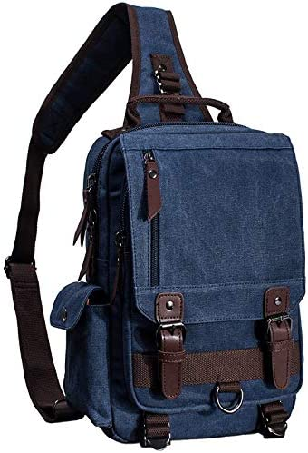 El-fmly Messenger Sling Bag Crossbody Shoulder Backpack Outdoor Travel Sport Laptop for Men