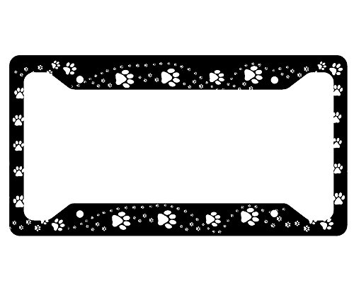 Paw Print License Plate Frames Kritters In The Mailbox
