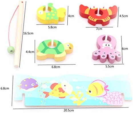 Jingjing shop 子供の早期教育は木製3Dステレオ3 4 5Year用のゲーム教育玩具ファインモータースキル玩具番号色の並べ替えパズル就学前のボードゲーム釣りの組み立て