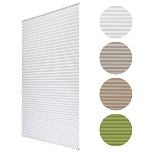 Sol Royal® Plissee SolDecor P25 - 70x100 cm Weiß - Klemm-Fix ohne Bohren - Plissee-Rollo Jalousie für Fenster & Türen