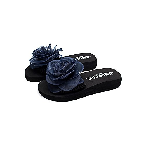 Bleu Chaussons pour JIN Femme HUI w70pYp