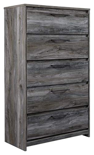 (Signature Design by Ashley B221-46 Baystorm Chest of Drawers Gray)