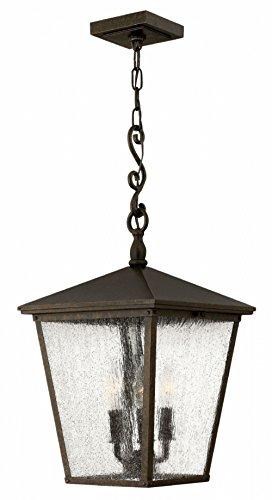 Hinkley 1432RB-LL Trellis Outdoor Pendant, 3-Light LED 15 Total Watts, Regency Bronze