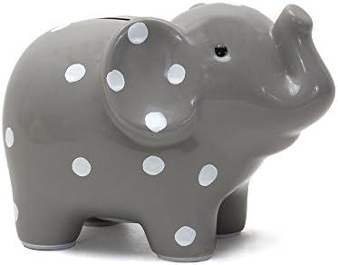 Grey Child to Cherish Polka Dot Elephant Bank