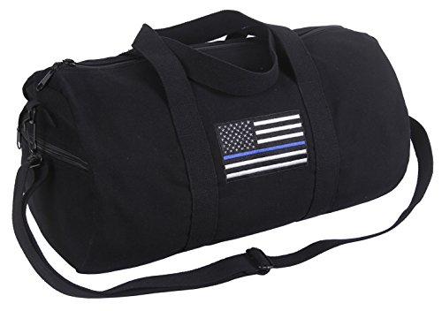 Rothco Thin Blue Line Canvas Shoulder Duffle Bag (Law Enforcement Bags)
