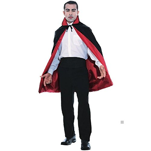 45 inch Reversible Cape Vampire Costume Accessory Adult Halloween Fancy Dress -