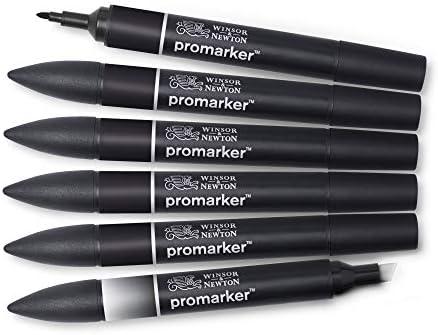 Winsor & Newton - Set de Rotuladores ProMarker, 6 Unidades, 5 ...