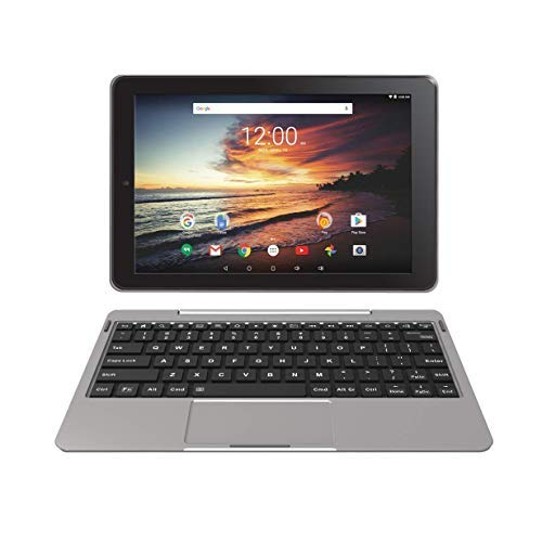 RCA 10″ Viking Pro10 Tablet with Detachable Keyboard – 32GB, GPS System & Dual Camera – (RCT6K03W13H1, Metallic Gray)