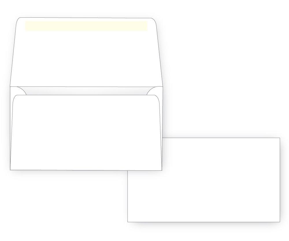 #6 3/4 Remittance Envelope - Wallet Flap - 24# White (3 5/8 x 6 1/2) (Pkg of 100)