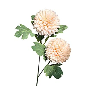 VOWUA Artificial Flowers Full Bloom Lifelike Silk Fake Flowers Dandelion Floral Wedding Bouquet Hydrangea Decor 3