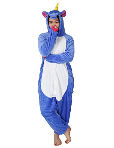 Adult-Onesie-Unicorn-for-Women-Men-Pajamas-Animal-Cosplay-Halloween-Costume-Cute-Sleepwear-XL-for-Height-71-74180-187cm-Deep-Blue