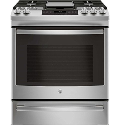 GE JGS760SELSS 30 Inch Slide-in Gas Range with Sealed Burner Cooktop, 5.6 cu. ft. Primary Oven Capacity, in Stainless Steel Freestanding Slide In Range