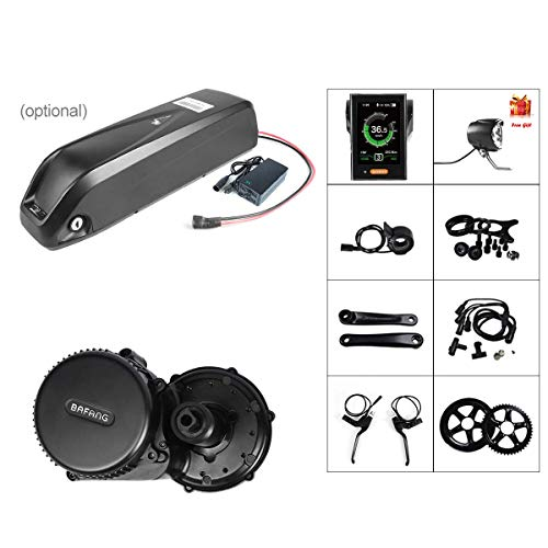 BAFANG BBS02B 36V 500W Ebike Motor with LCD Display 8fun Mid Drive Electric Bike Conversion Kit with 36V 17.5Ah Battery