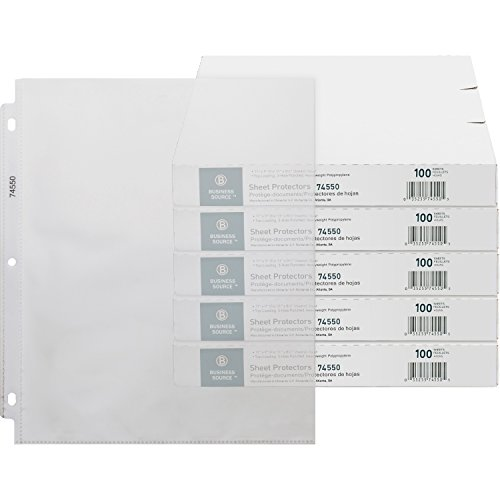 (Business Source Top-Loading Poly Sheet Protectors, 3.2 mil Thickness (74550CT))