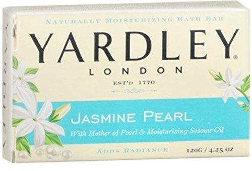 Yardley London Jasmine Pearl Bar Soap, 4.25 oz (Pack of 6)