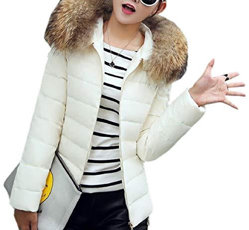 security Faux White Women Fit Hood Winter Fur Down Parkas Coat Puffer Jacket Slim rqq87dIw