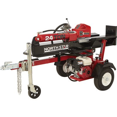 NorthStar Horizontal/Vertical Log Splitter - 24-Ton, 160cc Honda GX160 Engine