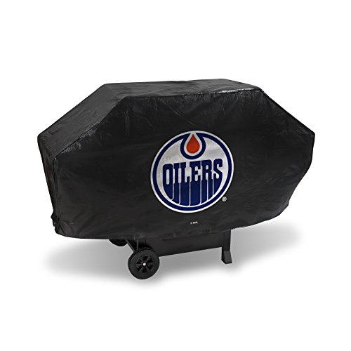 """NHL Edmonton Oilers Deluxe Grill Cover, Black, 68 x 21 x 35"""""""