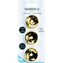 Metallic Gold Tea Lights - LED