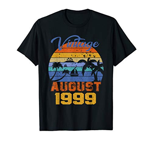 Vintage August 1999 20th Birthday Gift 20 years old T-Shirt
