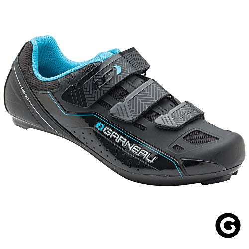 (Louis Garneau Women's Jade Bike Shoes for Commuting and Indoor Cycling, Compatible with SPD, Look and All Road Pedals, Black, US (11.5), EU (43))