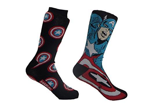 Marvel-Captain-America-Mens-Casual-Crew-Sock-Set-Pack-of-2