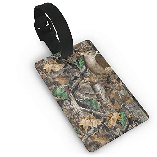(Realtree Camo Vector Custom Luggage Tags, Luggage Tags With Full Back Privacy Cover)